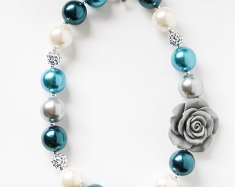 Blue Skies Bubblegum Necklace