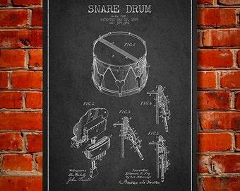 1889 Snare Drum Patent, Canvas Print, Wall Art, Home Decor, Gift Idea