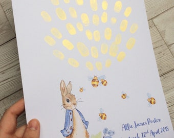 Peter Rabbit Fingerprint keepsake print