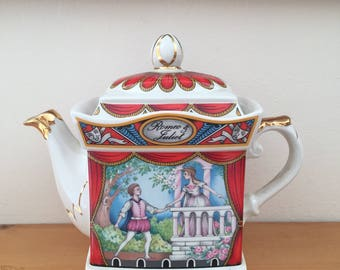 Vintage Sadler Romeo and Juliet Teapot from 1980s