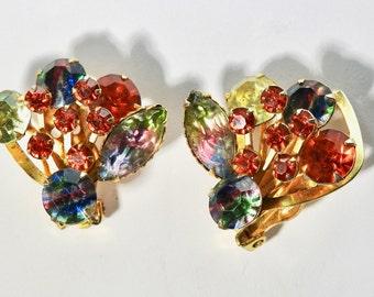 1960s Art Glass Earrings
