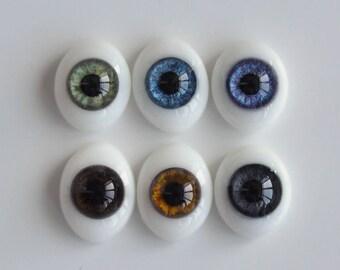 BJD oval eyes - Glass - 16 - 18mm