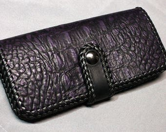 Lovely Alligator Leather Wallet Checkbook Cover