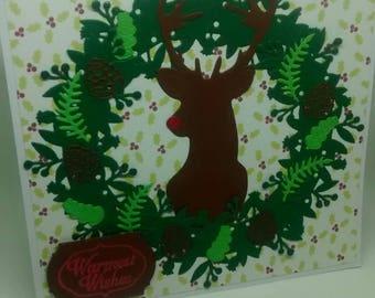 Handmade Christmas Card Reindeer