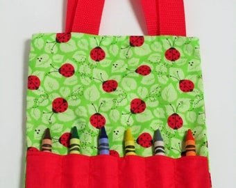 ladybug mini crayon bag party favor bag goody bags activity bag