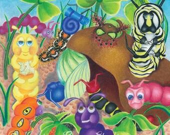 Caterpillar Visitors, Nile in Denial Art Print 10x10