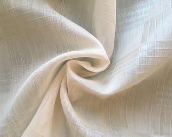 Jacquard silk organza