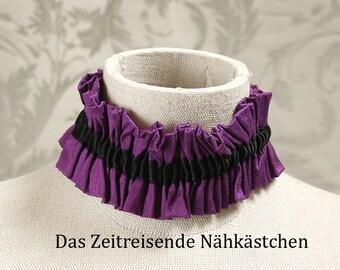 Garter belt - purple silk