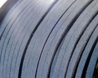 3 M clear 3mm X 1.5 mm - N7 Blue Suede cord
