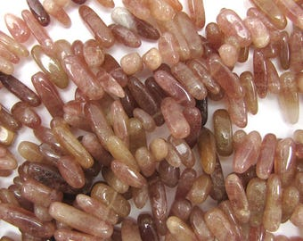 "12-24mm natural muscovite stick beads 15"" strand 16349"