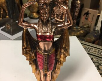 Unique Egyptian Mother Goddess ISIS Copper  Wash Made In Egypt