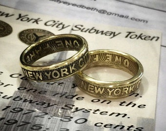 New York City Subway Token Ring FREE RESIZING - My Rings in the NY Daily News nyc