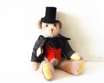 Vintage Large Collector's Teddy Bear Stuffed Animal