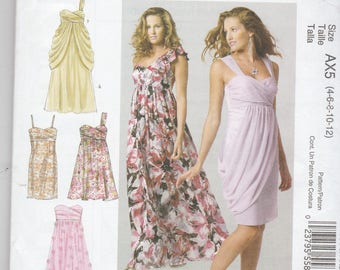 McCalls 6508 Womens Party Dress, Prom Dress, Evening Gown or Bridesmaid Dress in 4 Variations Size 4,6,8,10,12 UNCUT
