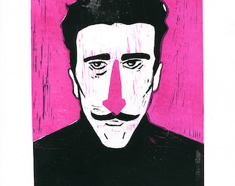 Grand Budapest Hotel - Dimitri -  Wes Anderson Lino Print