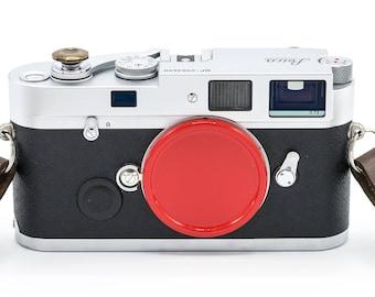 Red painted aluminum Leica M mount camera metal body cap/cover (for Leica M2, M3, M4, M5, M6, M7, M8, M9, M10, MP, M-E)