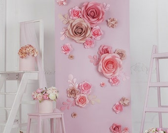 paper flower backdrop paper flower wall paper flower stand wedding ceremony backdrop wedding backdrop