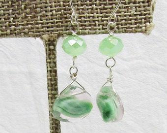 Peridot Green Lampwork Glass