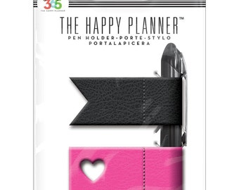 Pen Holder • Pink & Black Create 365 Happy Planner Pen Holder 2/Pkg (PH-01)