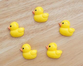 Cute Duckling (Yellow) 26mm x 24mm Flatback Cabochon Resin Deco Embellishments Scrapbooking Craft DIY - 1/5/20pcs
