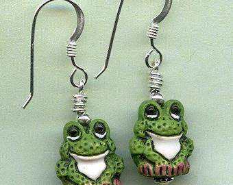 Froggie Frogs Sterling Silver Earrings