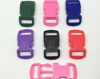 40pcs 550 Curved Survival Bracelet Buckles 29x15mm For 10mm Webbing
