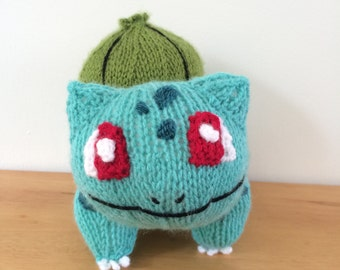 Bulbasaur knitting pattern pokemon pattern knit knitted plushie toy amigurumi