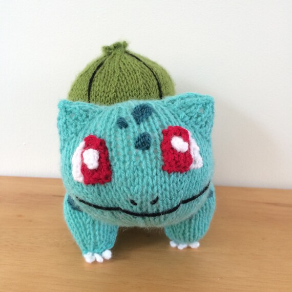 Bulbasaur knitting pattern pokemon pattern knit knitted plushie toy ...