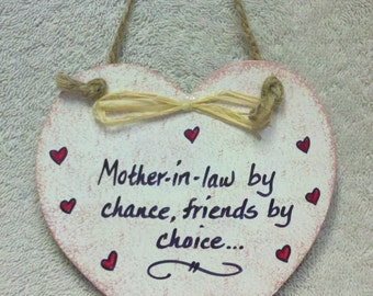 Mother-in-law Heart Plaque