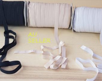 FOE, Fold Over Elastic, Shiny FOE by Metre, DIY Headband, Hair Ties, Headband Elastic Supplies-JuliaSupply Australia
