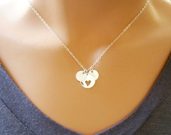 Heart Necklace, Personalized Necklace, Custom, Mothers Necklace Personalized Infinity Necklace Friend Sister Wife Gift, Bridesmaid Gift
