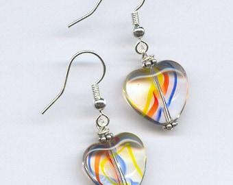 Primary Hearts Beaded Earrings