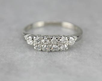 Double Row Diamond Band, Anniversary Band, Wedding Ring, Stacking Band 3CW339-D