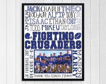 FOOTBALL GIFTS ~ Printable Football Coach Gift ~ Football Coaches Gift ~ Custom Football Coach Thank You ~ Personalized Football Team Gift