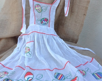 Vintage Organza Bibbed Hostess Apron