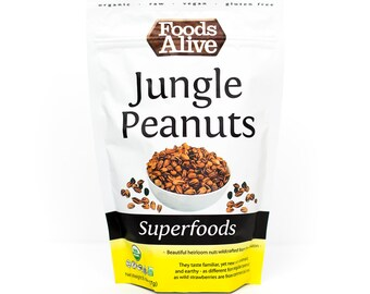 Organic Jungle Peanuts - 8 oz. - Gluten Free, Raw, Vegan, Kosher, NON-GMO