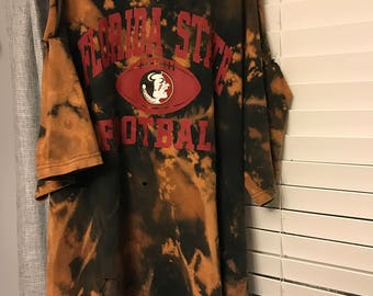 Florida state cold shoulder t shirt dress