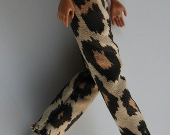 11.5 inch doll clothes - leopard print pants