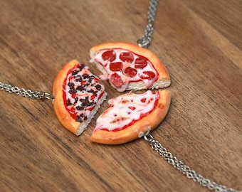 Pizza Necklace - 1 Necklace, Food Jewelry, Pizza Jewelry, Kawaii, Kawaii necklace