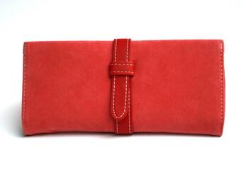 Womens Pink Purple Wallet,  Pink Wallet, Purple Wallet, Leather Wallet, Womens Wallet