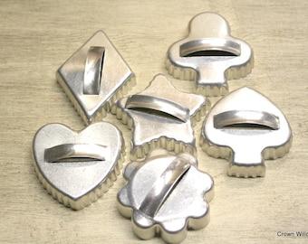 Cookie Cutters - Crafting Supplies - Set of 6 - Metal - Cookie Crafting - Baking