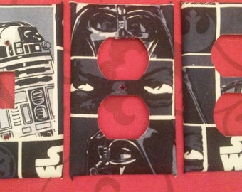 Star Wars light switch and outlet covers, very cool and free shipping!