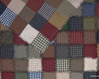 KING - Rag Quilts, Rustic, Handmade, Country, Primitives, Western, Custom, Made to Order, Homespun
