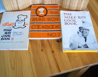 """Vintage  60's - 70""""s  """" MIKE ROY COOKBOOKS""""  Collection of 3 Cookbooks"""