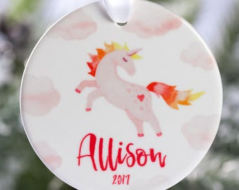 Unicorn Christmas Ornament 2018