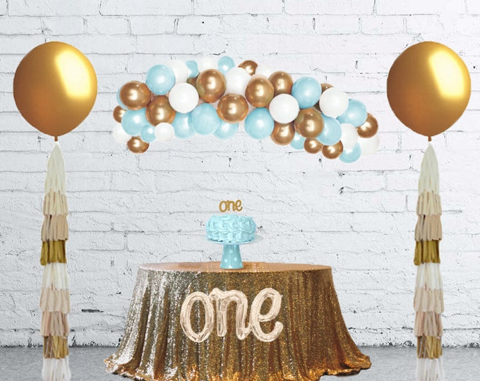 Balloon Arch Kit, Balloon Garland, DIY Balloon Garland Kit, organic balloon Garland, Balloon Arch, Balloon Backdrop, Blue Balloons