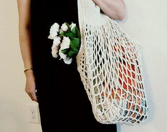 Handmade Crochet Summer Hobo Bag - L