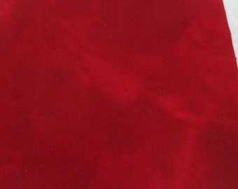 Hand dyed wool fabric - primitive Christmas red wool - rug hooking - applique and crafts - primitive crafting - quilting - deep red - 047