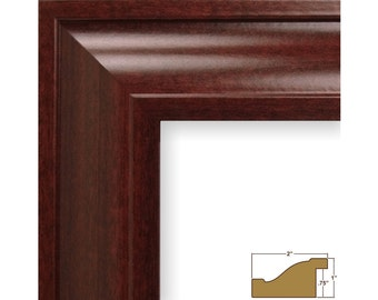 "Craig Frames, 20x20 Inch Red Mahogany Picture Frame, Contemporary Upscale 2"" (760392020)"