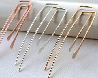 Threader Earrings Dainty Earrings Gold Threaders Gold Earrings Rose Threader Earrings Simple Earrings Minimalist Earrings Dainty Earrings